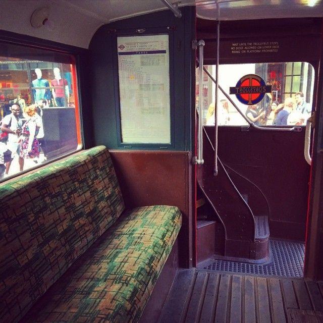 #yearofthebus2014 #regentstreet #oldbus #interior #stair #seats - Jake_diamond