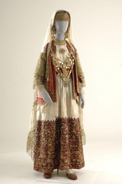 Μενίδι, Αττική  Bridal costume of the middle class in the villages of Attica