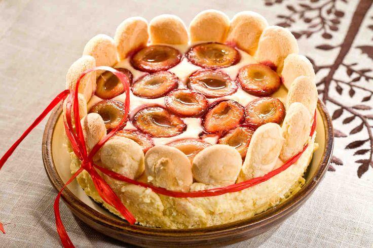 Ciasto z kremem ze śliwkami #smacznastrona #przepisytesco #ciasto #śliwki #deser #mniam #sweet #krem