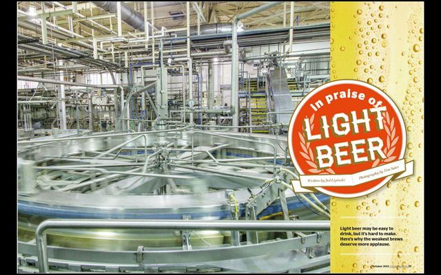 sooo many pipes....Light Beer Explained in Mental Floss Magazine for iPad and Digital Editions