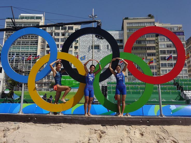【#rio2016】いよいよ明日は女子!       スイム試泳の後、ポンツーンドローが行われました。明日は日本チーム一丸となって戦ってまいります。日本チームの応援をよろしくお願いします。#がんばれニッポン #triathlon #トライアスロン #リオ五輪 #Rio2016