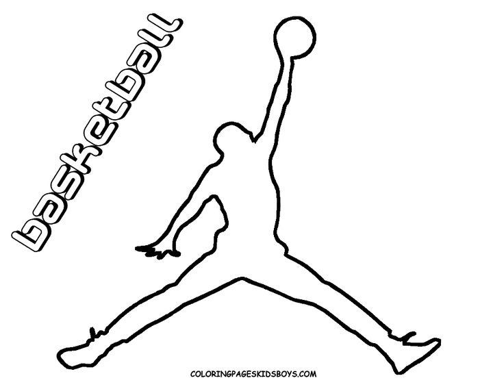 Michael Jordan Logo Coloring Pages Sketch Coloring Page