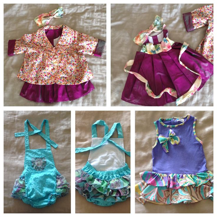 Could not help making these gorgeous outfits for my beautiful baby niece. Baby D'lish by Tricia Katherine