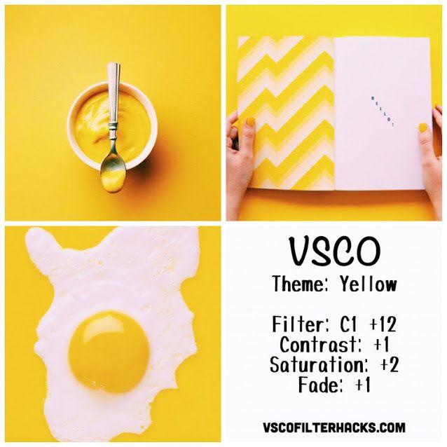 Yellow Instagram Feed Using VSCO Filter C1