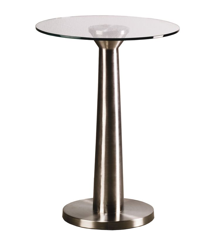 70s side table, top in glass, structure in stainless steel.