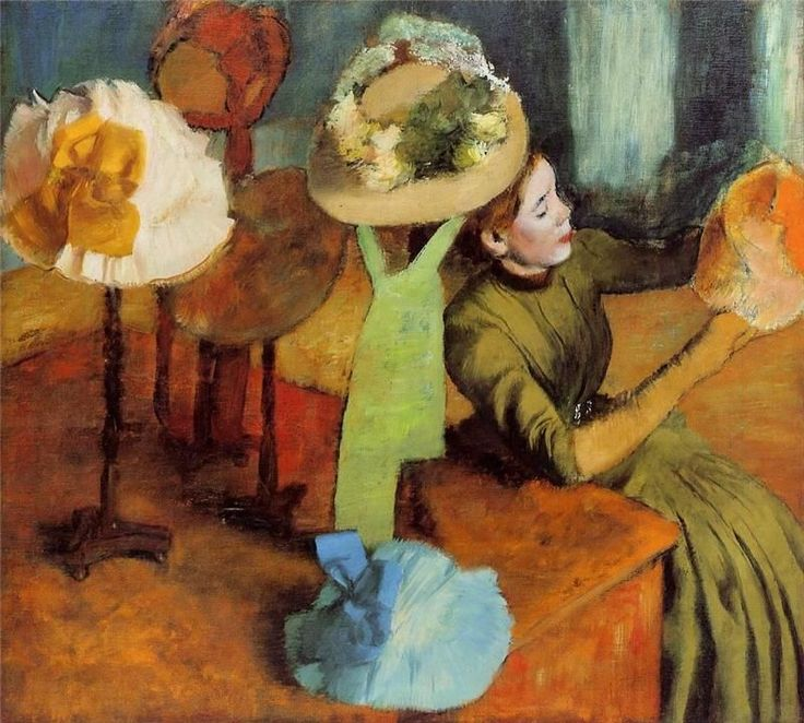 The Millinery Shop' by Edgar Degas, 1885 | Living the Life | Pinterest