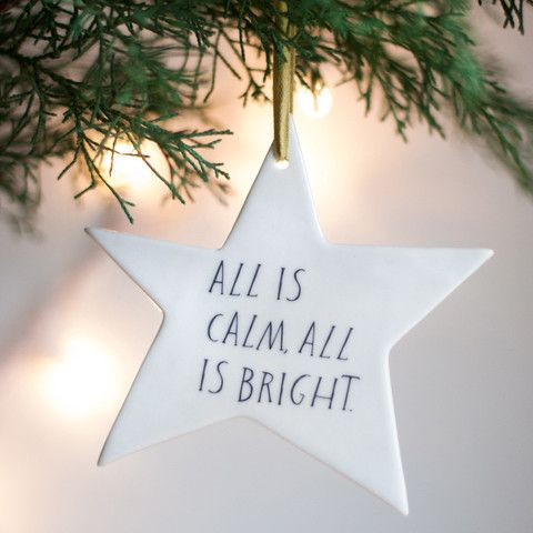 All Is Calm Star Ornament