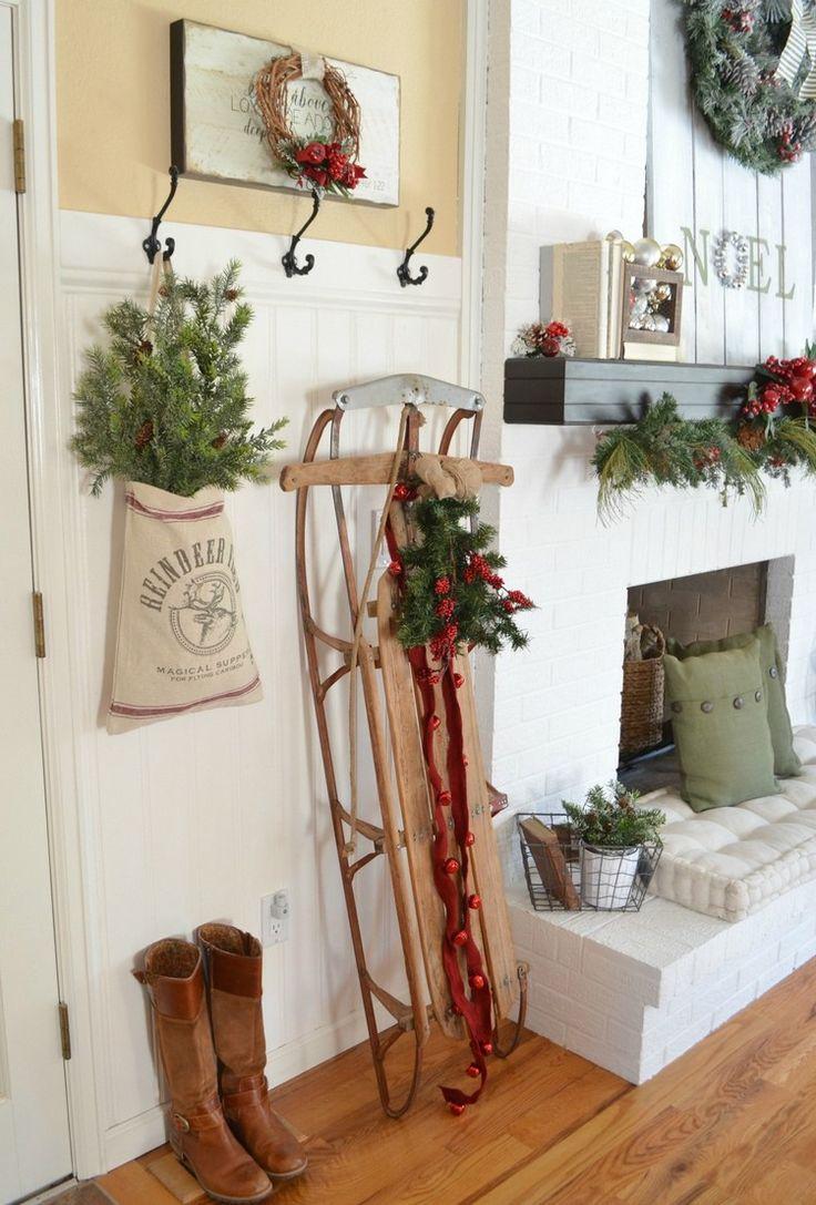 eingangsbereich innen wohnung dekorieren ideen #weihnachtsdeko #ideen #outside