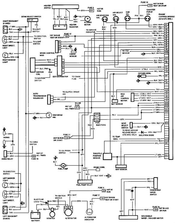 1990 Chevy Truck Fuse Box Diagram And Chevy Camaro Fuse Box Diagram Wiring Diagrams Folder Chevy Trucks Chevy Electrical Wiring Diagram