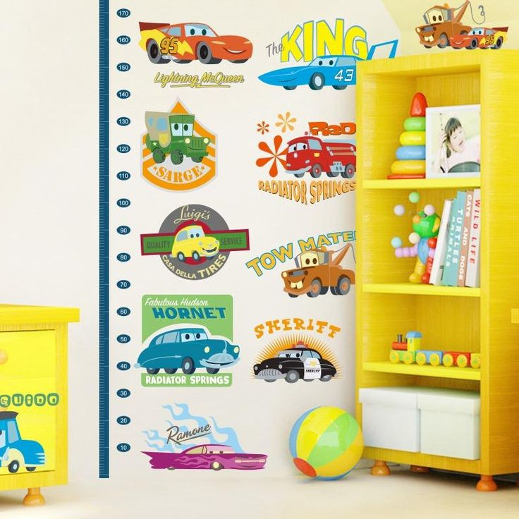 Disney Cars Child Height Chart Wall Decals U2013 The Treasure Thrift