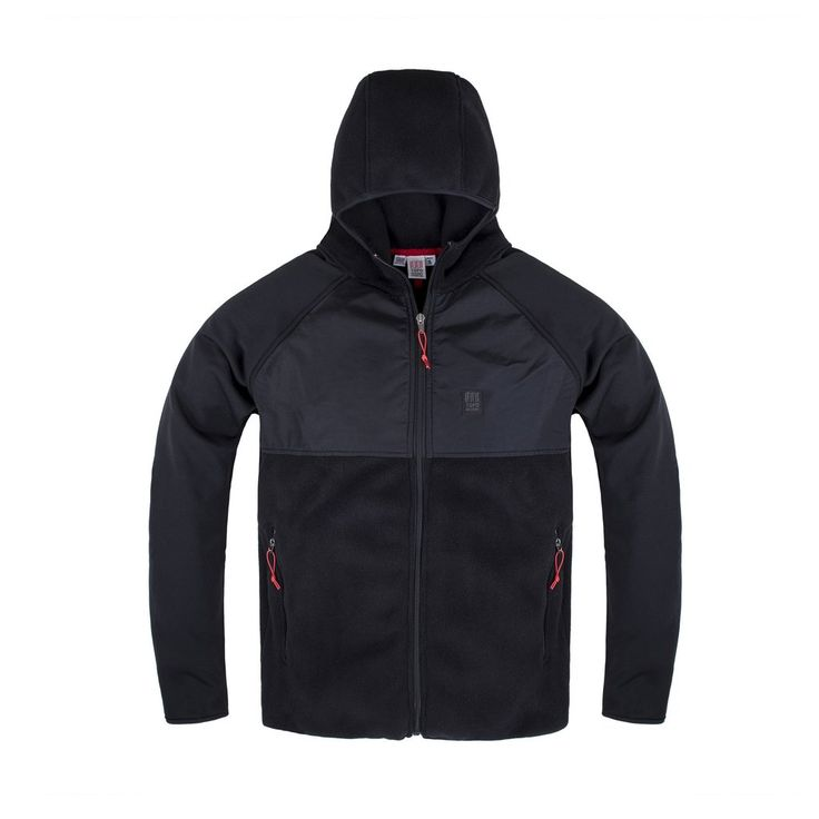 Our Jack-of-all-Jackets! The Fleece Hoodie has thinner fleece sleeves that easily slide under jackets so it can be used for extra warmth or all on its own, too.