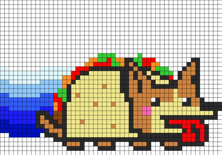Minecraft Dog Knitting Pattern : 17 Best images about Nyan Cat on Pinterest Perler bead patterns, Perler bea...
