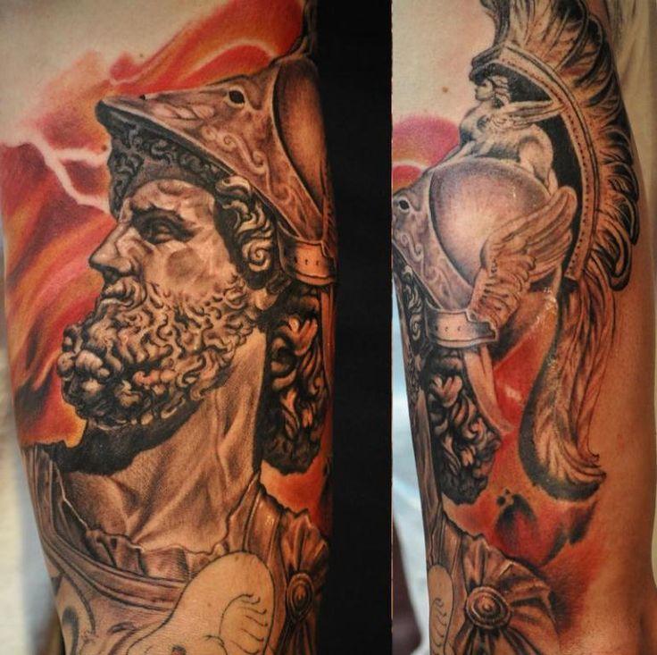 Ares Greek God Tattoo