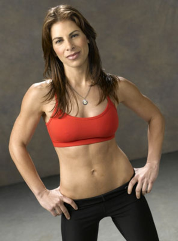 Jillian Michaels gosh I hate you in my 30 Day Shred DVD. You make me want to kick my tv but I can't get my leg up that far cause it hurts too bad.