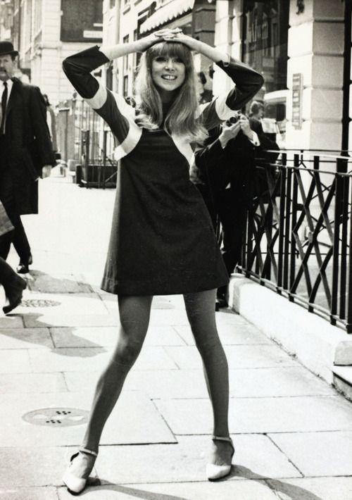 Patti Boyd. Intolerance:.... at the time,this contained two intolerances- the short skirt and the wide-legged stance. Of course no conservative French mayor likely to say non.