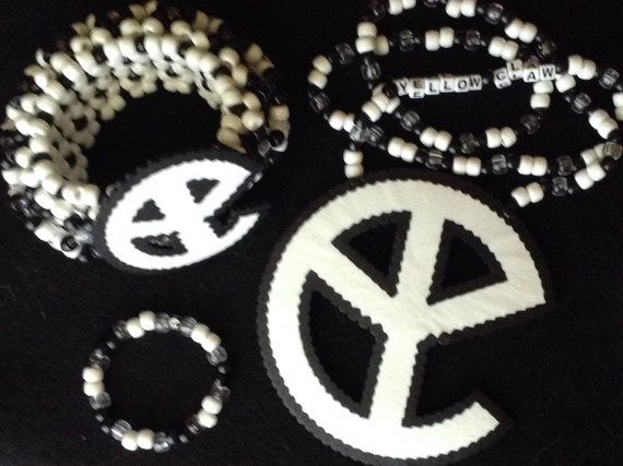 Best 55 yellow claw ideas on pinterest dj gera and barong yellow claw kandi necklace with cuff set by plurfectkreations stopboris Gallery