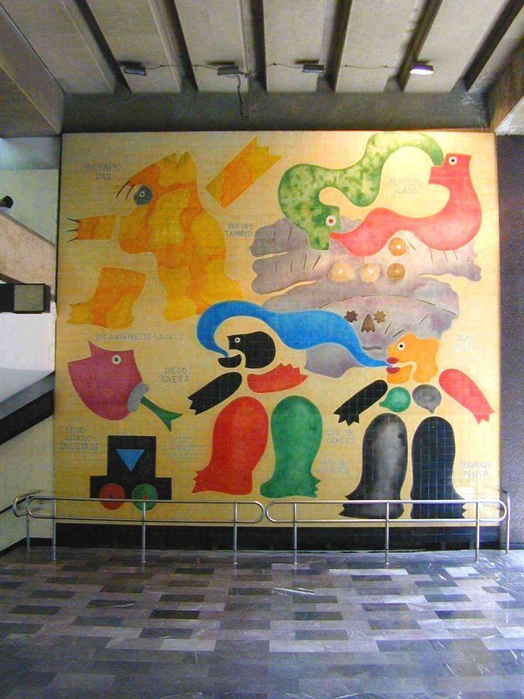 José de Guimarães | Cidade do México / Mexico City | Estação / Station Chabacano | 1997 #Azulejo #JosédeGuimarães