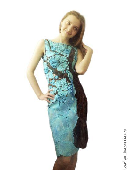 """Платья ручной работы. Ярмарка Мастеров - ручная работа платье """"экзотическое дерево"""". Handmade."""