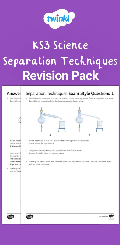 Ks3 Separation Techniques Revision Pack Ks3 Separation Science