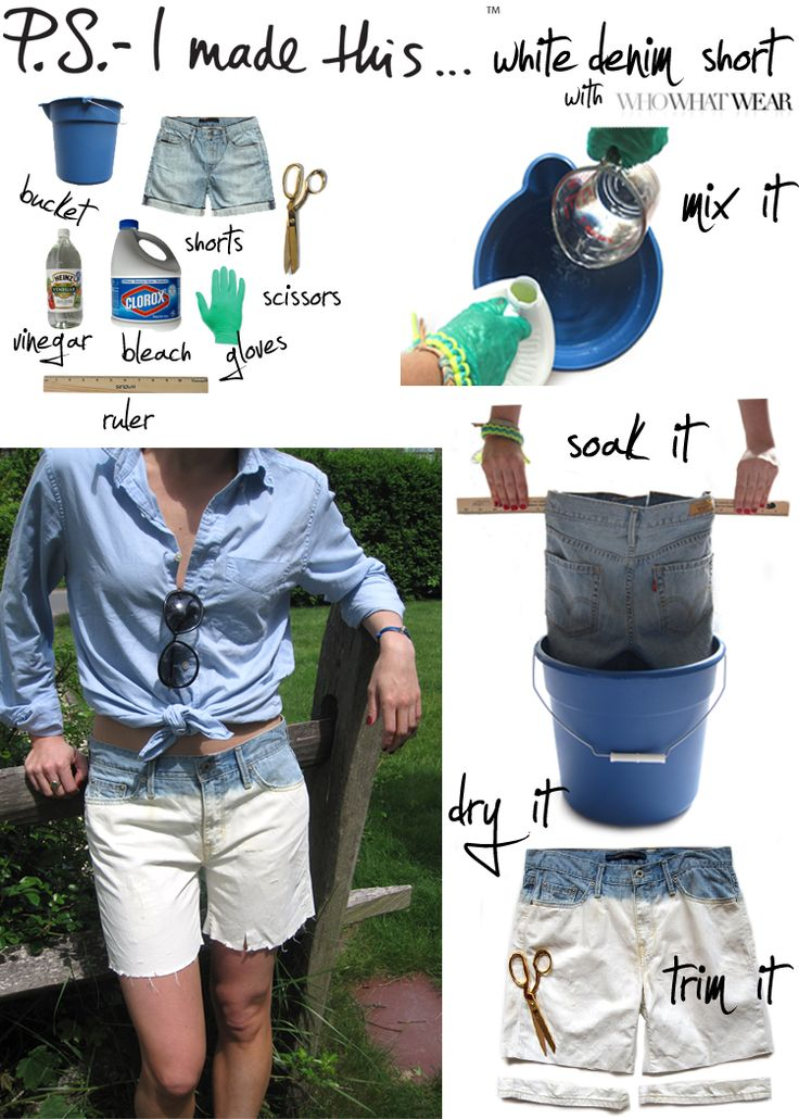 DIY White Denim  http://psimadethis.com/page/6#Fashion Ideas, White Denim, Diy Fashion, Dips Dyes, White Jeans, Jeans Shorts, Denim Shorts, Diy Projects, Old Jeans
