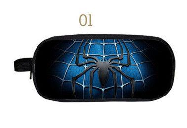 Spiderman Dessin Animé de Grande Capacité à double fermeture éclair Sacs pour les adolescents Multifonctionnel Garçon Filles Cas Cosmétique - Livraison gratuite vers le monde entier