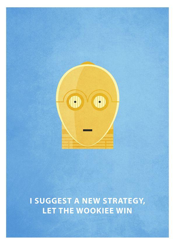 Star Wars - Minimalism by Keith Bogan, via Behance