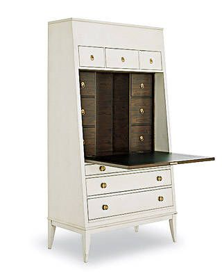 """Hallings Secretary by Thomas O'Brien for Hickory Chair Co.Width: 39"""" Height: 71.75"""" Depth: 20.5"""""""