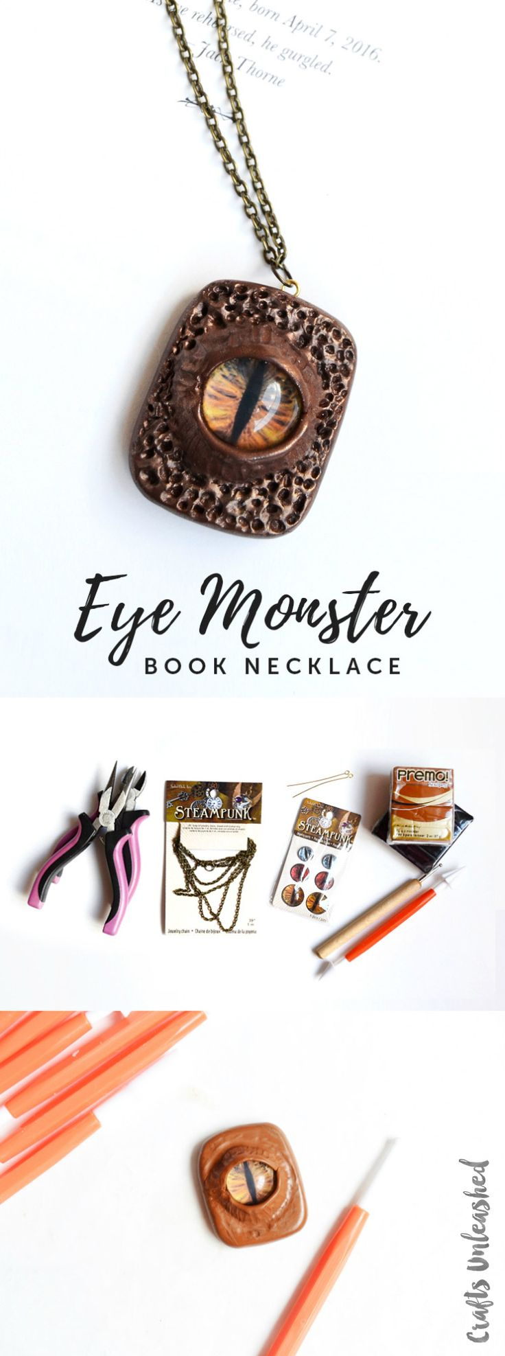 diy halloween project eye monster necklace consumer crafts - Diy Halloween Projects