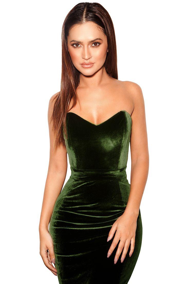 2161 Best Dresses Images On Pinterest Cute Floral Jolie Clothing Neil Polka Midi Dress Bodycon Antonella Olive Green Velvet Strapless