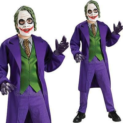 kids deluxe joker costume kid licensed deluxe batman joker fancy dress - Joker Halloween Costume Kids