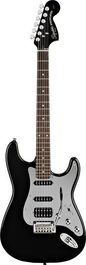 Squier Black and Chrome Standard Stratocaster HSS Electric Guitar | Black