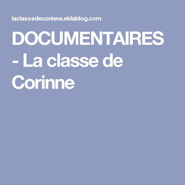 DOCUMENTAIRES - La classe de Corinne