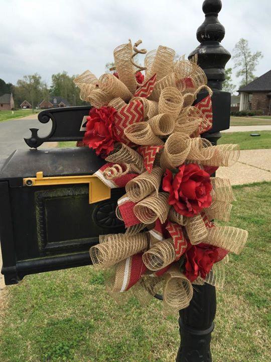 Mailbox wreath...