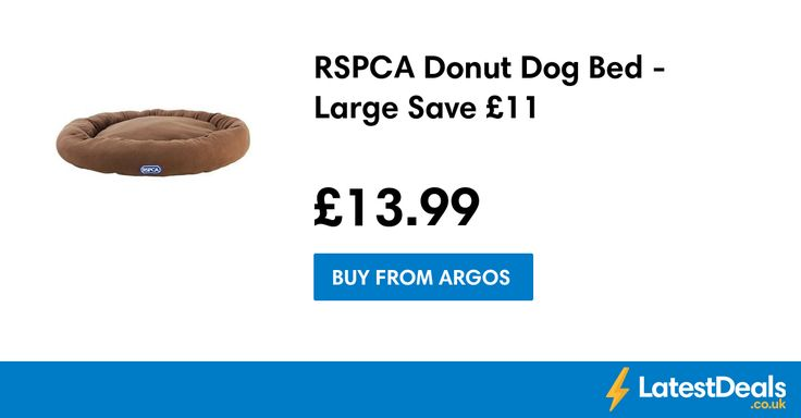 RSPCA Donut Dog Bed - Large Save £11, £13.99 at Argos