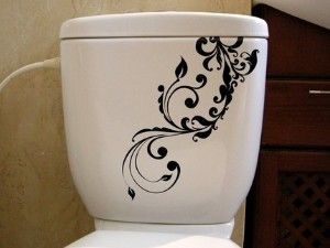 make your toilet pretty with decal transfers
