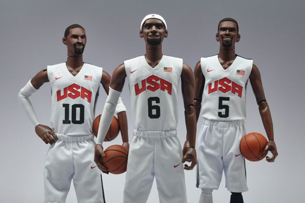 "Nike NSW x Coolrain ""Dream Team"" Figures featuring Kobe Bryant, LeBron James and Kevin Durant 