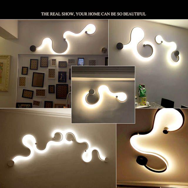 Online Shop Moderne Minimalistischen Kreative Wand Lampe Schwarz