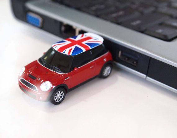AutoDrive Mini Cooper UK Flag Car 8GB/16GB by StylishFashionGadget - I believe I NEED one of these!