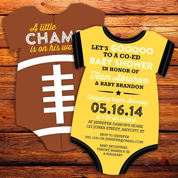 sports themed baby shower invitations 2
