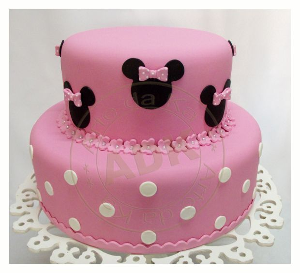 Cake Minnie dark pink