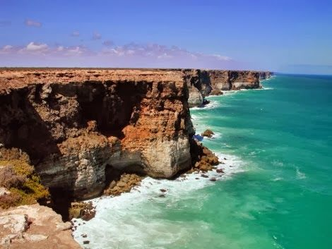 Corfu Weather & News: Nullarbor-Εκεί όπου τελειώνει η Γή South Australia coast, Nullarbor, Bunda Cliffs: Where the world ends and endless water spreads in front of your eyes..