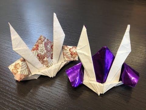 折り紙 カブトの作り方 How to make Gundam Hat Origami - YouTube