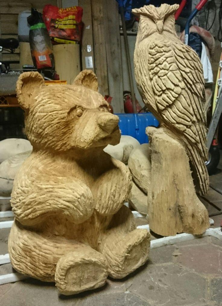 Фигуры медведя из дерева своими руками фото