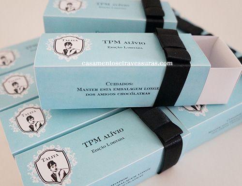 Caixa TPM Alívio (para 3 doces) - Casamentos e Travessuras