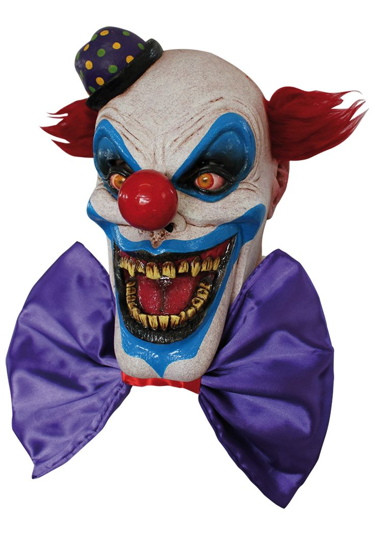 The fiendish Chompo the Clown mask is the stuff of nightmares -- perfect for Halloween! Description from halloweencostume.com. I searched for this on bing.com/images