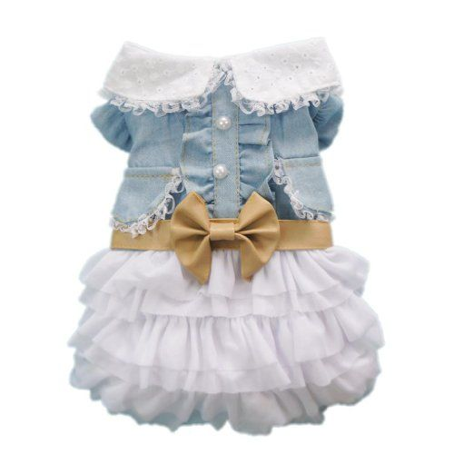 Fairy Denim Dog Dress for Dog Clothes Charming Cozy Dog Shirt Pet Dress Free Shipping,M - http://www.thepuppy.org/fairy-denim-dog-dress-for-dog-clothes-charming-cozy-dog-shirt-pet-dress-free-shippingm/