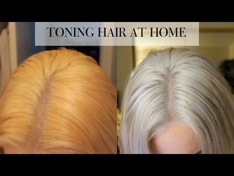 How to Tone Brassy hair into cool toned blonde in 15 minutes at home - YouTube