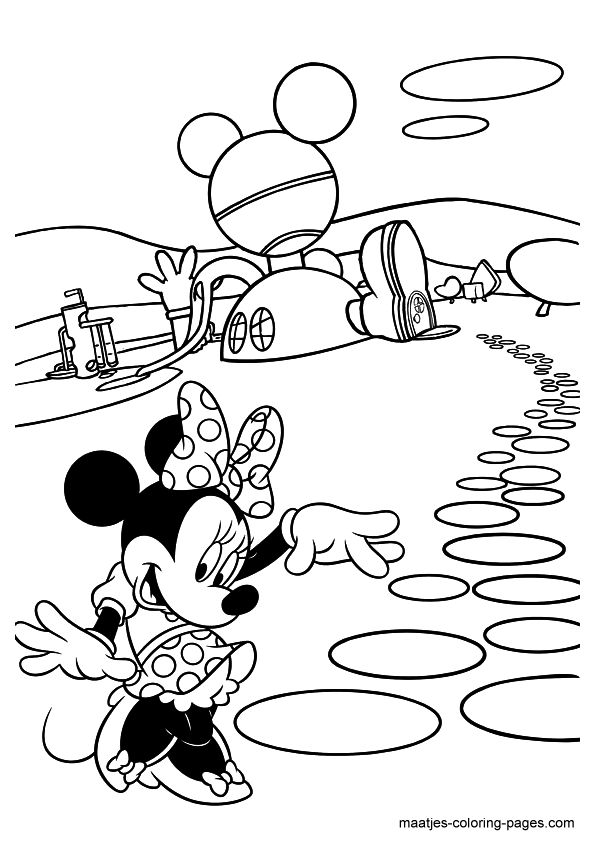 free minnie mouse printables | Minnie Mouse Coloring Pages for girls