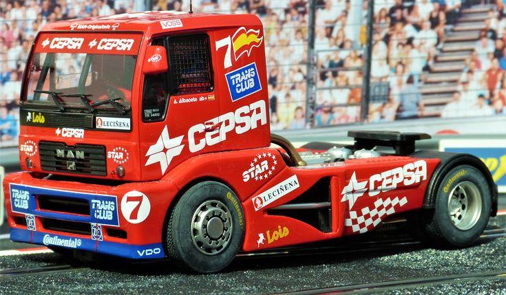 GB Track 08011. MAN TR 1400. Jarama FIA ETRC 2001 Antonio Albacete. #slot #slotcar #man #etrc #antonioalbacete
