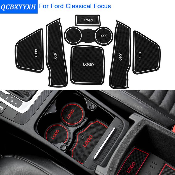 7Pcs/Set For Ford Classic Focus High/Low Match Car Styling Slot Pad Interior Door Groove Mat Latex Anti-Slip Cushion